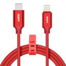 ESR Kabel typ C- IPHO podwójnie pleciony czerwony